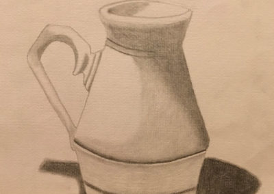 Pencil Sketch of Jug - Dennis Major