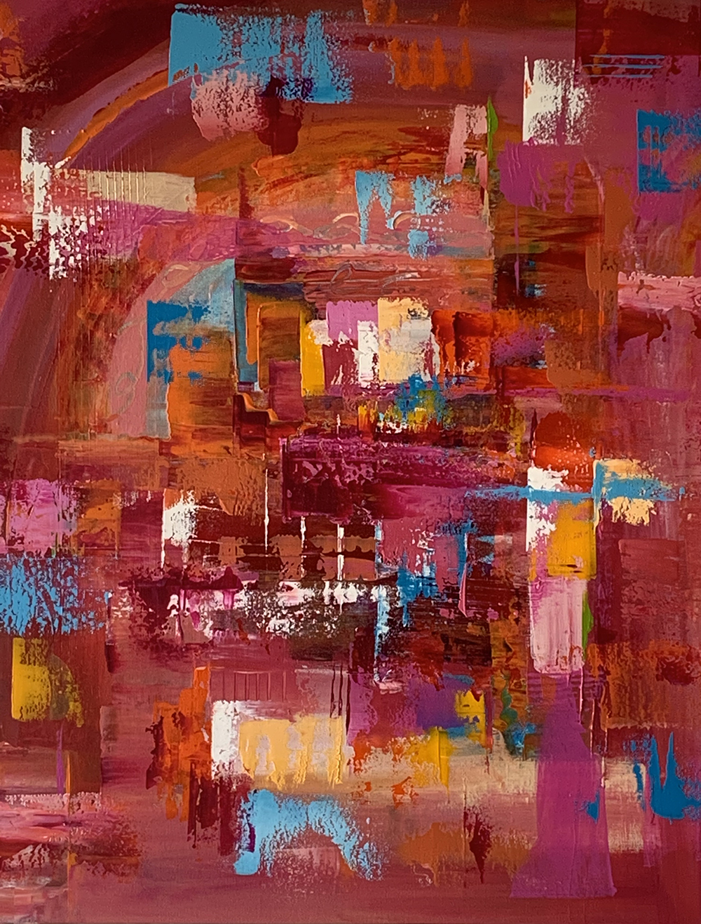 Charlene Tulloch Pink Abstract