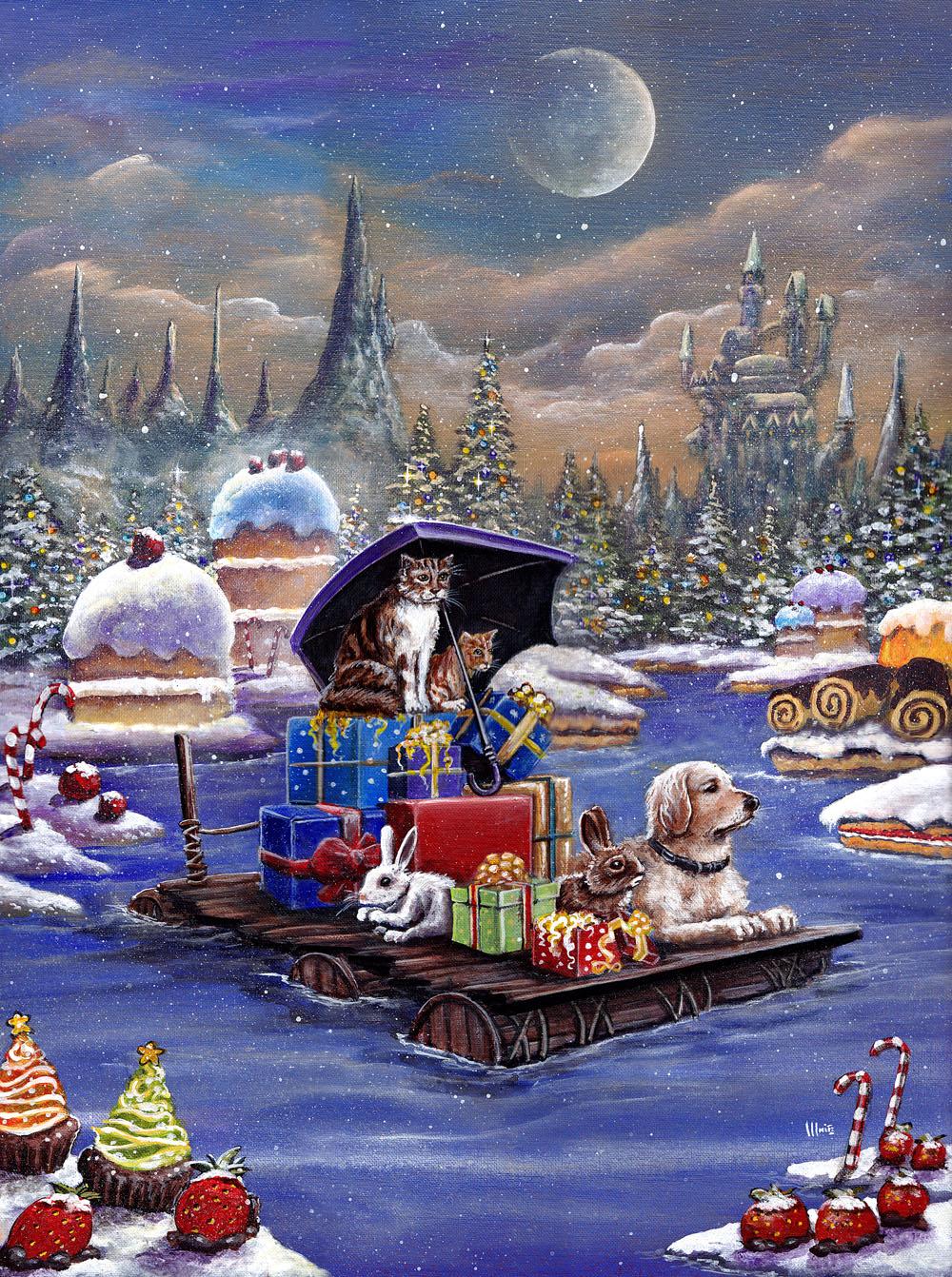 Nick White Christmas Critters Adrift