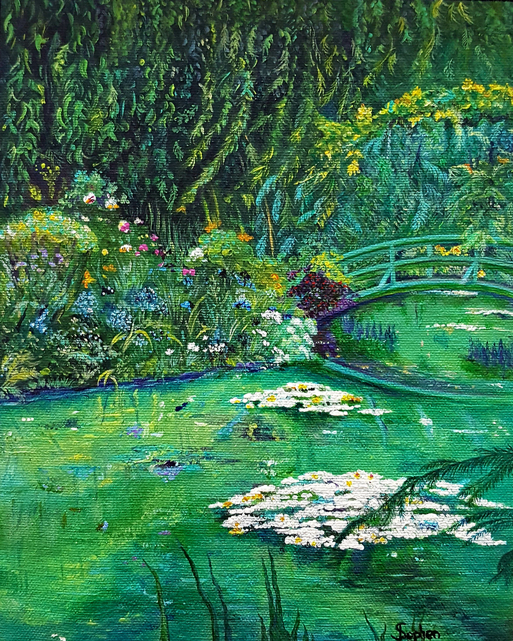 Deborah Stephen - Garden at Giverny with Bridge