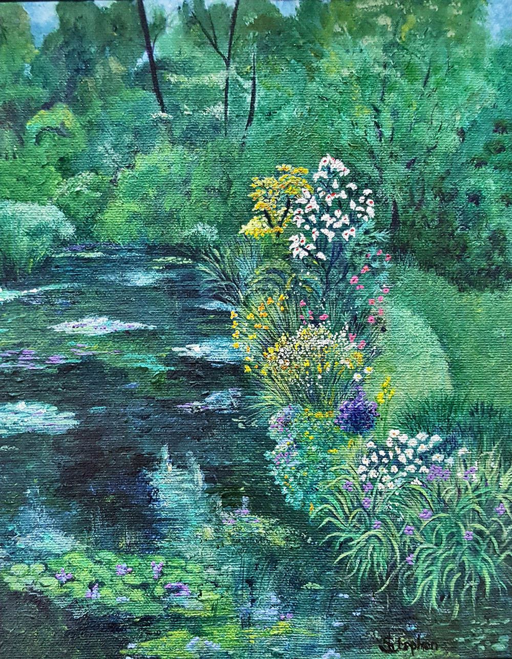 Deborah Stephen Garden at Giverny with Pond