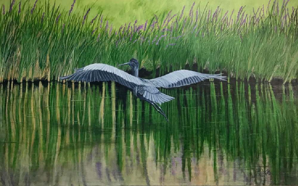 Flight of the Heron by Pat Walker