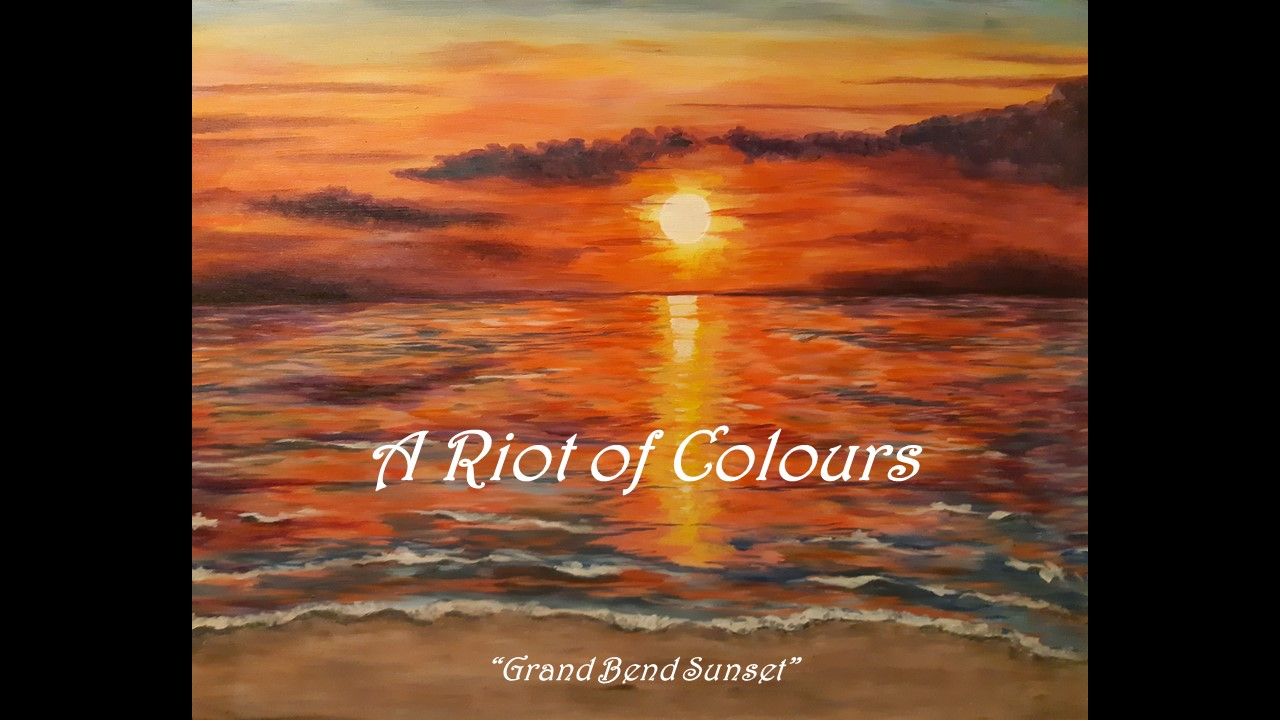 August 2021 Art Challenge Entries - A Riot of Colours